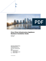 Cisco PI Hardware Appliance Installation Guidee