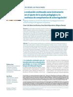 La Evaluación Continuada Como Instrumento Para El Ajuste de La Ayuda Pedagógica y La Enseñanza de Competencias de Autorregulación
