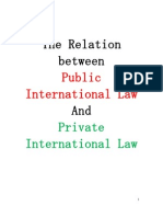 The Relation Between Public and Private International Law