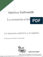 5. Maurice Halbwachs_La Memoria Colectiva Cap 5