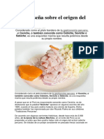 Breve Reseña Del Ceviche