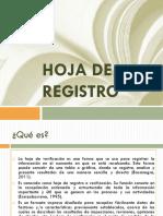 Hoja de Registro