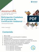 Participación Ciudadana en El Proceso de Certificacion Ambiental