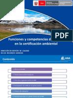 Funciones y Competencias de La ANA en Certificacion Ambiental