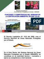 Funciones y Competencias Del Sernanp en Certificacion Ambiental en ANP