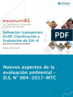 Subsector Transportes_EVAP,Clasificación y Evaluación EIA-d