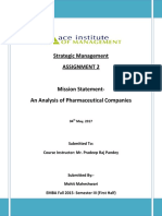 Mission Statment- An Analysis of Pharmaceutical Companies