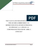 tesis Parasitosis