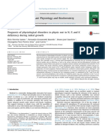 Prognosis of Physiological Disorders in Physic Nut to N, P, And K Deficiency During Initial Growth