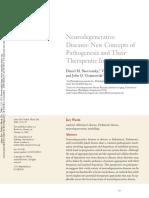 Neurodegenerative Diseases New Concepts Of