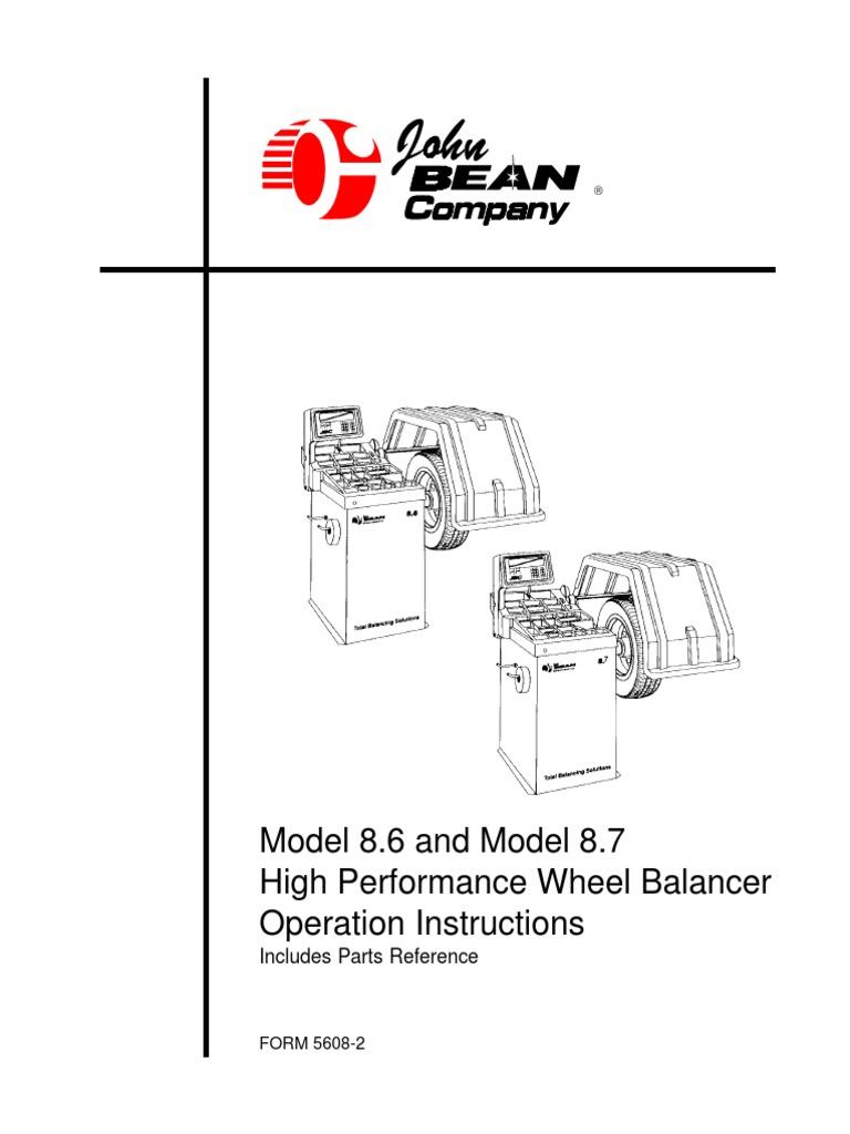 John Bean Wheel Balancer Rim Width Caliper Measurement System I System II /& III