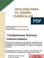 Metodología Para El Diseño Curricular