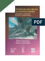 Campuzano, Mario y María Carmen Bello - La psicoterapia de grupo en las instituciones. Psicoanálisis y psicodrama.pdf