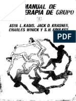 Manual de Psicoterapia de Grupo Asya l Kadis