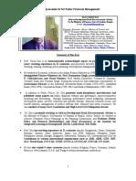 Tarun Das CV for Public Financial Management