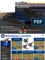 F35 Lightning II Range Requirements