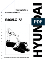 Manual operador Hyundai R500