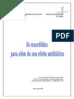 Os Macrolidos Para Alem Do Seu Efeito AntibioticoAna Sofia