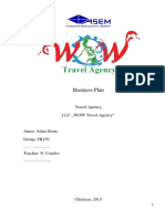 Business Plan of a Travel Agency