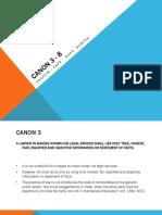 CANON 3 - 8