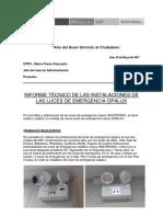 Informe Técnico May-2017 Ing. Vladimir r.