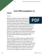 DNS Propagation Commandline