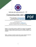 TT - Informe Cementación