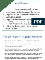 Reconocimiento de las características de los lenguajes de marcas