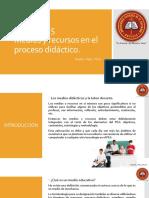 Lección 2.5 Medios y Recursos en El Proceso Didáctico.