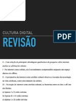 Revisão Cultura Digital