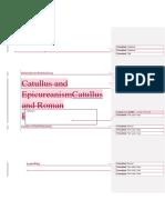 Catullus and Roman Epicureanism