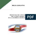 Protocolo de Atención Del Acoso Laboral en Asamblea Legislativa(Versión Final 2013)