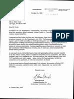 Ex Parte Correspondence to Mark Fowle