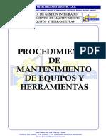 Pc-Alm-004 Procedimiento Mantenimiento de Equipos y Herramientas