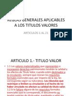 UNIVERSIDAD TITULOS VALORES - 2DA CLASE  - REGLAS GENERALES.pptx