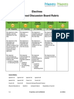 electives 20 pt  discussion rubric final