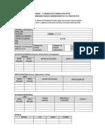 Modelo de Cv- COordinador Técnico Admnistrativo