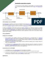 Conversión Analógica - Digital y Digital - Analogica
