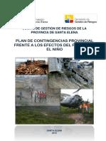Plan de Contingencias Frente Al Fenómeno El Niño de la Provincia de Santa Elena