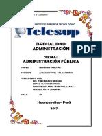 Administracion Publica Enfoques Fundamentos Monografias.com