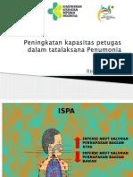 Peningkatan Kapasitas Petugas Dalam Tatalaksana Penumonia BALITA