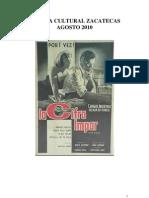 Agenda Cultural Zacatecas - Agosto 2010