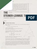 The Steiner-Lehmus Theorem (Hang KH, Koh KM)