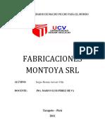 Fabricaciones Montoya - Toma de Decisiones