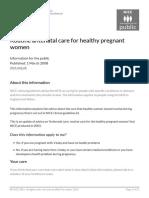 Routine Antenatal Care for Healthy Pregnant Women PDF 254938789573