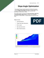 Tutorial 30 Slope Angle Optimization