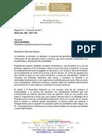 Of. 062 - 2017 Venezuela-Asalto Asamblea Nacional