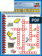 Classroom Objects CROSSWORDS.pdf