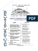 August 2010 NVYC Newsletter 8 Pages