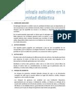 Terminología Aplicable en La Unidad Didáctica